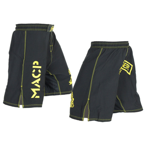 Army Ranger Black and Gold Fight Shorts