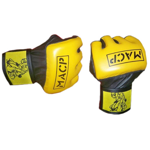 Gold and Black MACP MMA Gloves