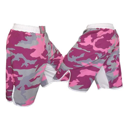 Pink Camo MMA Shorts