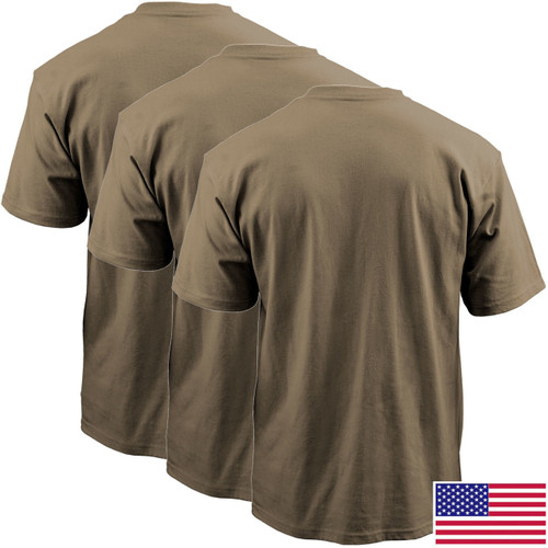 Tan 499 OCP T-Shirt, 50/50 Cotton Poly 3-Pack