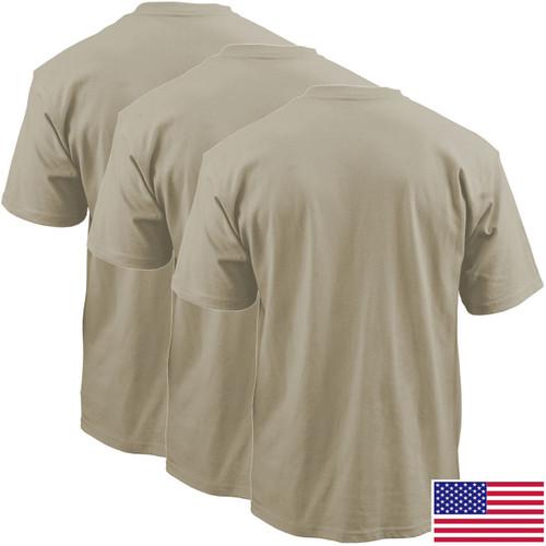 Sand OCP T-Shirt, 100 Percent Cotton 3-Pack