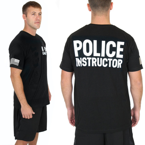 Police Instructor - K9 Chest - Black Tee