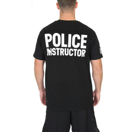 Police Instructor - K9 Verticle - Black Tee