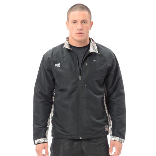 Men's XWIND Full Zip Jacket - Black ACU - Digital Army Camo Accents Soffe