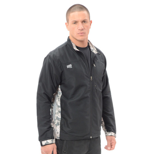 ADULT XWIND FULL ZIP JACKET - BLACK/DIGITAL ARMY