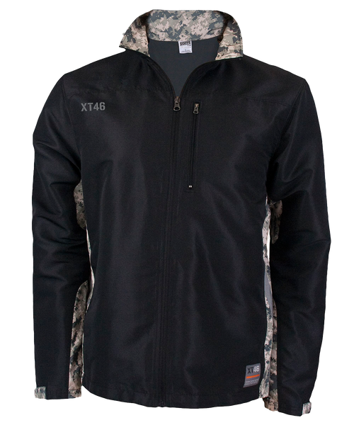 Men's XWIND Full Zip Jacket - Black ACU - Digital Army Camo Accents Soffe
