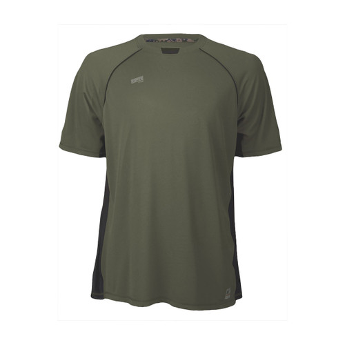Men's Soffe Battalion Tee - OD Green with Black Accents and Marine Marpat Camp
