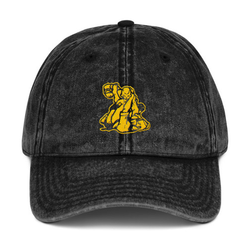 MACP Vintage Cap - Distressed Black with Gold Embroidery - Otto Cap
