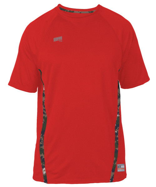 Soffe SS COMBAT - Marines Camo - Red with MARPAT Accents