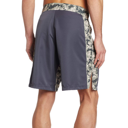 MMA Digital Insert Polyester Shorts - Gunmetal & Digital Army - Soffe