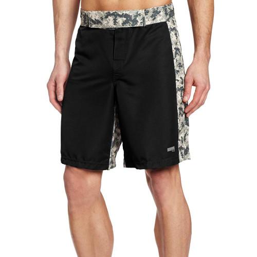 MMA Digital Insert Polyester Shorts - Black & Digital Army - Soffe