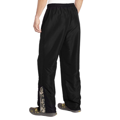 MMA Digital Insert Polyester Pants - Black & Digital Army - Soffe