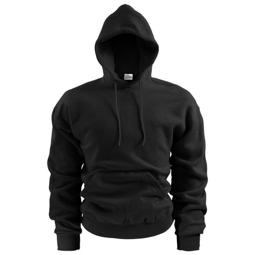 Soffe Black Fleece Pullover Hooded Sweatshirt