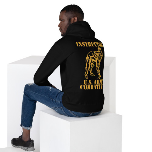 Combatives Instructor Black and Gold Unisex Hoodie | No Sleeve Print