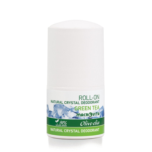 Natural Crystal Deodorant Roll-On Green Tea Olivelia