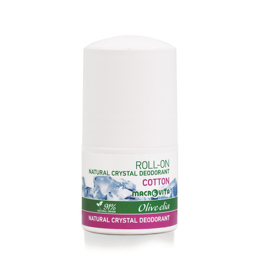 Natural Crystal Deodorant Roll-On Cotton Olivelia