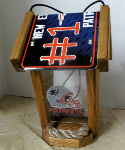 New England Patriots #1 Fan License Plate Roof