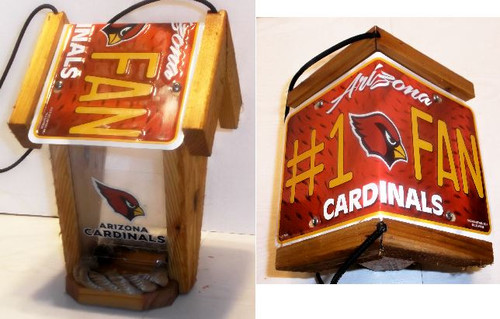 Arizona Cardinals # 1 Fan License Plate Roof Bird Feeder