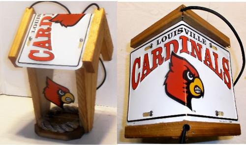 Louisville Cardinals License Plate Roof Bird Feeder