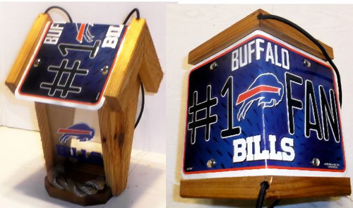 Buffalo Bills #1 Fan License Plate Roof Bird Feeder