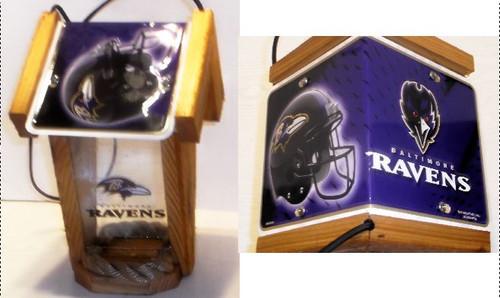 Baltimore Ravens License Plate Roof Bird Feeder