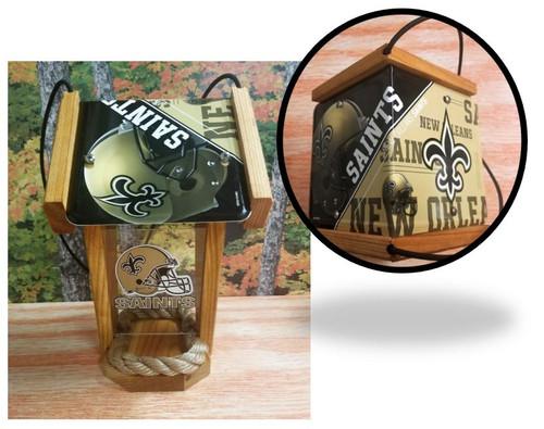 New Orleans Saints License Plate Roof Bird Feeder