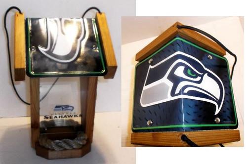 Seattle Seahawks License Plate Roof Bird Feeder