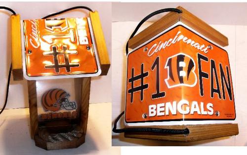 Cincinnati Bengals #1 Fan License Plate Roof Bird Feeder