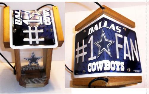 Dallas Cowboys #1 Fan License Plate Roof Bird Feeder