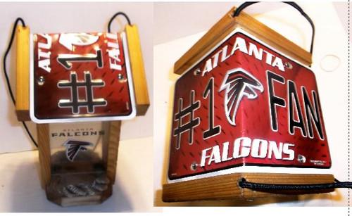 Atlanta Falcons #1 Fan License Plate Roof Bird Feeder