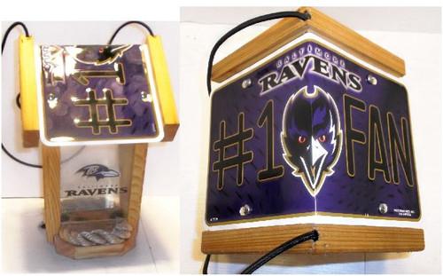 Baltimore Ravens #1 Fan License Plate Roof Bird Feeder