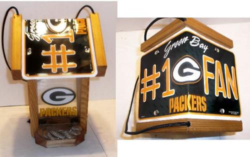 Green Bay Packers  #1 Fan License Plate Roof Bird Feeder