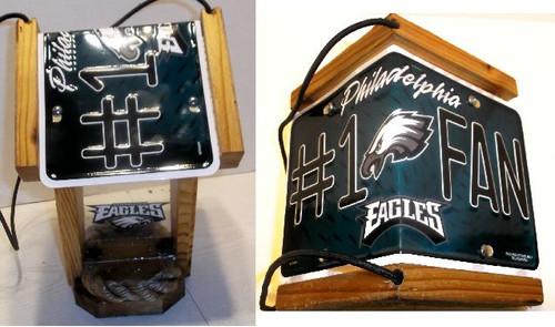 Philadelphia Eagles #1 Fan License Plate Roof Bird Feeder