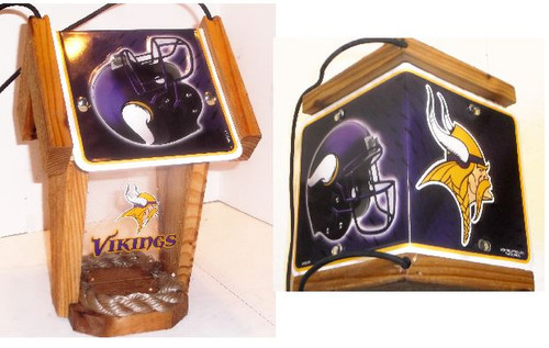 Minnesota Vikings License Plate Roof Bird Feeder
