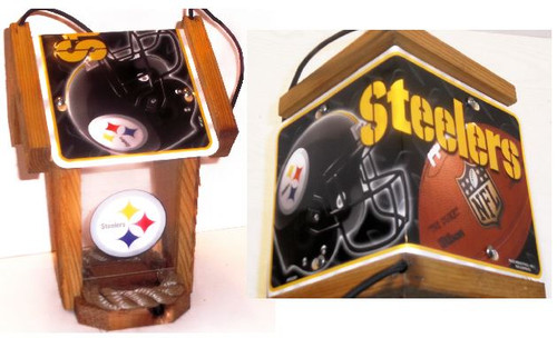 Pittsburgh Steelers License Plate Roof Bird Feeder