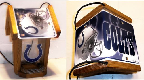 Indianapolis Colts License Plate Roof Bird Feeder