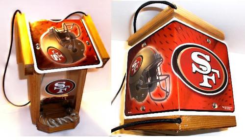 San Francisco 49ers License Plate Roof Bird Feeder