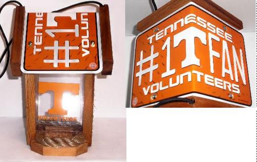 Tennessee Volunteers #1 Fan License Plate Roof Bird Feeder