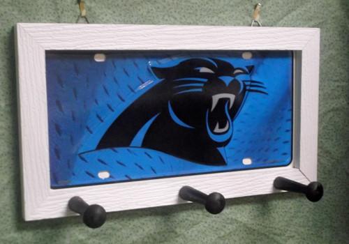 Carolina Panthers License Plate Peg Hanger