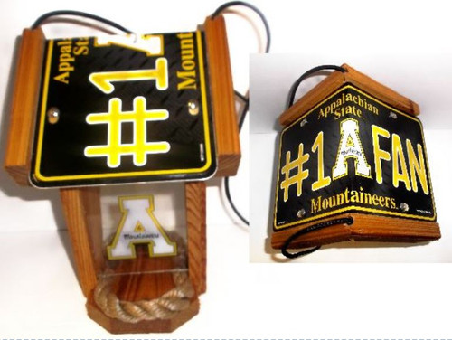 Appalachian State  #1 Fan License Plate Roof Bird Feeder