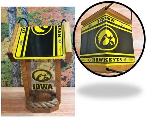 Iowa Hawkeyes License Plate Roof Bird Feeder