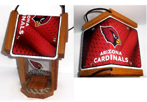 Arizona Cardinals  License Plate Roof Bird Feeder