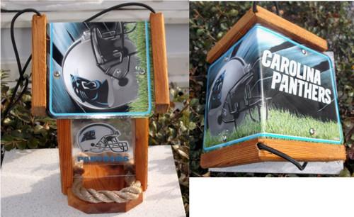 Carolina Panthers License Plate Roof Bird Feeder