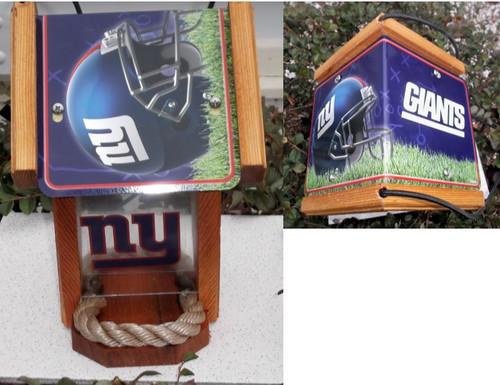 New York Giants License Plate Roof Bird Feeder