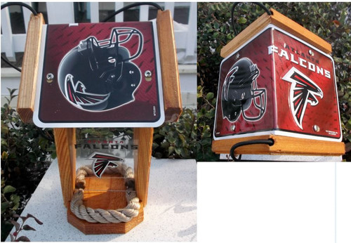 Atlanta Falcons License Plate Roof Bird Feeder