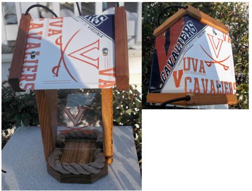 Virginia Cavaliers License Plate Roof Bird Feeder (SI Series)