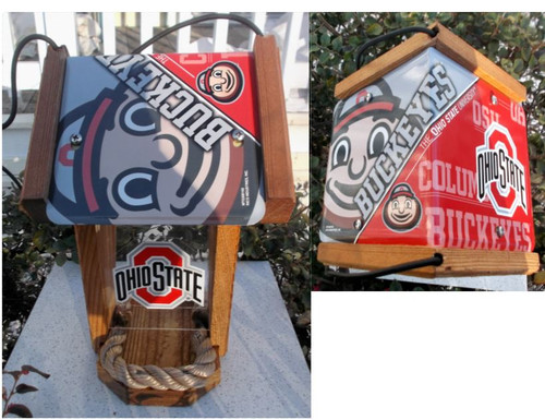Ohio State License Plate Roof Bird Feeder (SI Series)