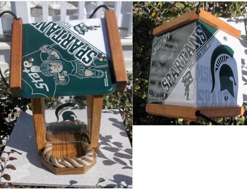 Michigan State University Spartans License Plate Roof Bird Feeder (SI Series)