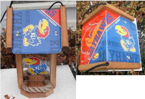 Kansas University (KU) License Plate Roof Bird Feeder (SI Series)