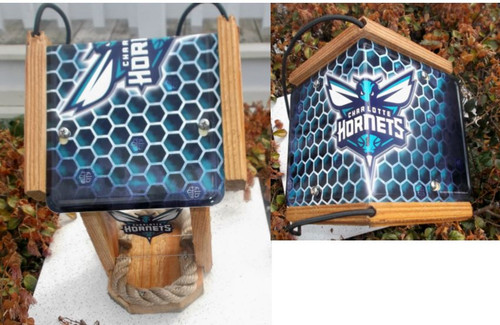 Charlotte Hornets License Plate Roof Bird Feeder
